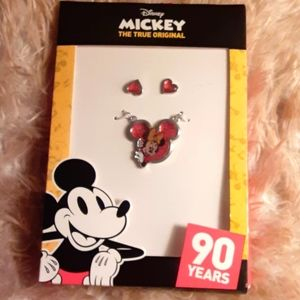 MINNIE MOUSE NECKLACE AND EARRING SET
